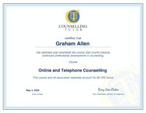 online counselling qualification